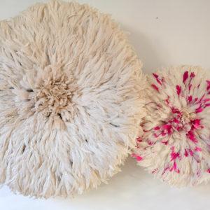 Juju hat blanc et fuchsia