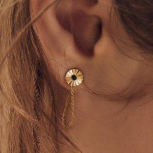 boucles d'oreilles chaînes dahlia