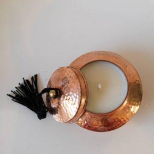 Bougie parfumée en cuivre de Marrakech
