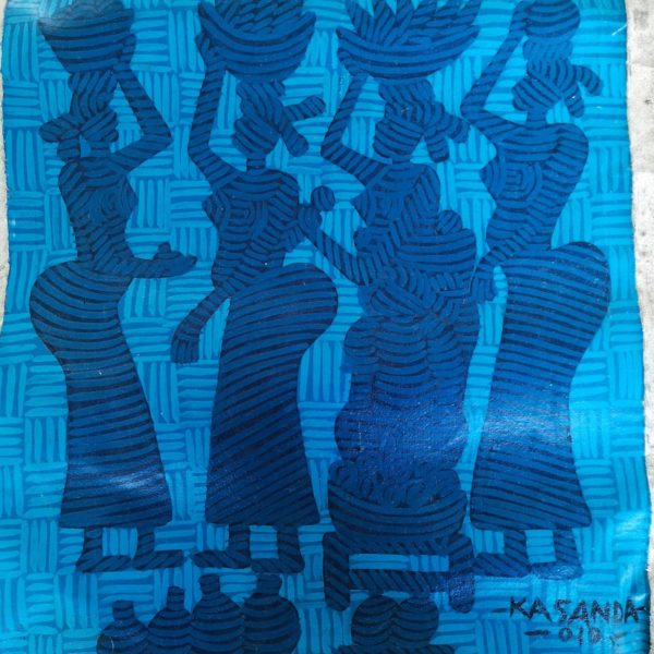 Toile Blue Africa